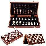 dwkkong Ajedrez de Madera Niños Grandes, Adulto, Conjunto, Plegado, Rompecabezas, Juego, Juego de ajedrez Juego