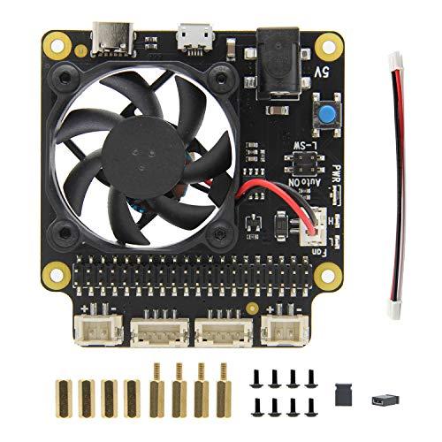 Geekworm Raspberry Pi 4 Model B X735 V2.0 Power Management mit Sicher Abschaltung und Auto Kühlung Funktion Expansion Board für Raspberry Pi 4 Model B/ 3B + (Plus) /3B