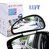 YnGia Blind Spot Mirrors, [Fits Car Mirror Frame Thickness Less than 5MM ONLY], Adjustable Car Auxiliary Wide Angle Side Rearview Mirror for Cars SUV, 1 Piece (Black-Left) …