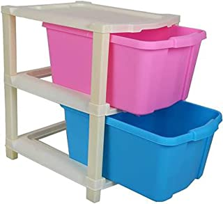 SUKHAD 2 Layer Plastic Modular Drawer For Home, Office, Hospital Foldable Organizers Box, 39 X 35.6 X 29 CM, Multicolor
