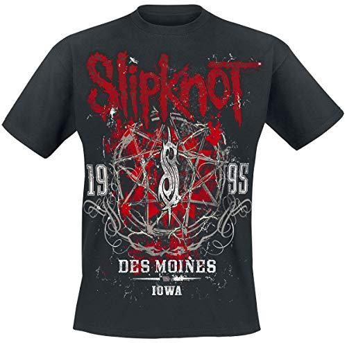 Slipknot Iowa Star Männer T-Shirt schwarz L 100% Baumwolle Band-Merch, Bands