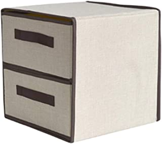 PPCP Storage Box Drawer Type Household Multi-Layer Storage Box Fabric Folding Clothing Storage Box (Color : Beige)