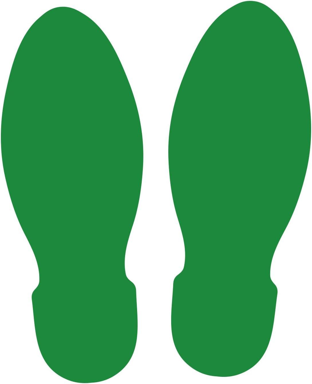 LiteMark 9.7 Inch 超歓迎された Grass Green Stickers Footprint for 割り引き Floors Safe