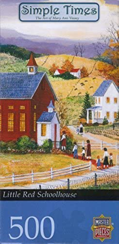 Simple Times Little rot Schollhouse 500 Piece Puzzle by Master Pieces