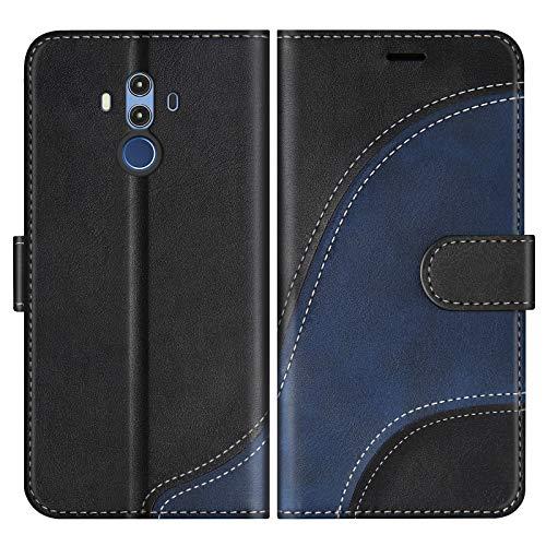 BoxTii Cover per Huawei Mate 10 PRO, Custodia in PU Pelle Portafoglio per Huawei Mate 10 PRO, Magnetica Cover a Libro con Slot per Schede, Nero
