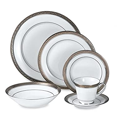 Noritake Austin Platinum 50-Piece Dinnerware Set, Service for 8