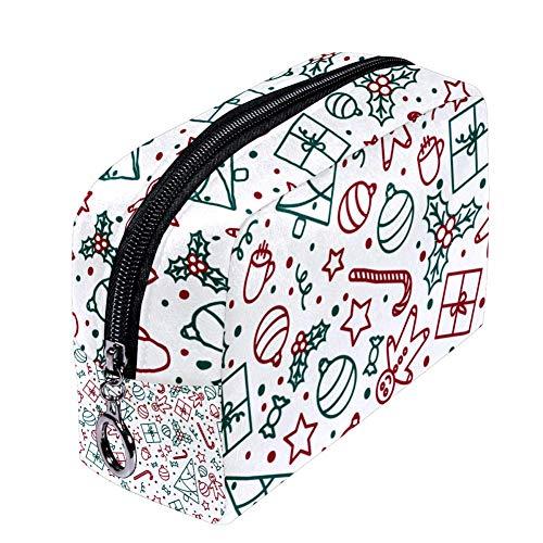 Shiiny - Borse per cosmetici natalizie da donna, piccola borsa per trucchi da viaggio per articoli da toeletta, impermeabile, multifunzione, portatile