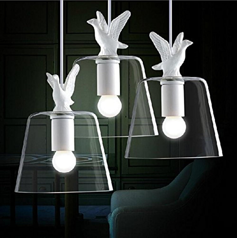Lh&Fh Rétro Simplicité Industrie Simple Style Creative restaurant Salon Peu Swan verre Lustre
