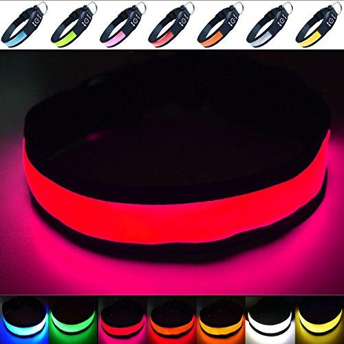 """Fun Pets Hundesicherheitshalsband mit ultraheller, wiederaufladbarer LED mit hervorragender Sichtbarkeit und erhöhter Sicherheit X-Klein (20cm - 30cm / 7.87\"""" - 11,8\"""") Rosa"""