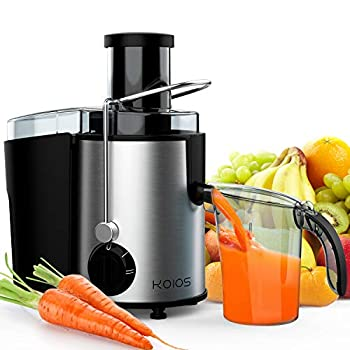 KOIOS Centrifugal Juicer Juicer Machines for Fruits &Vegetables Centrifugal Juice Extractor Easy Clean with Wide Mouth Feed Chute 304 Stainless Steel Filter BPA Free Powerful&800W Brush Included