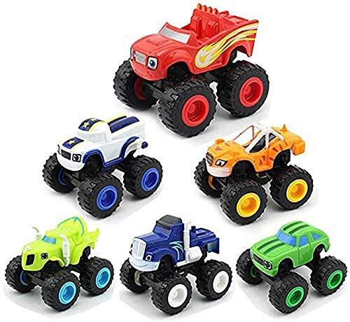 6 Piezas de Juguetes Monster Machines, Blaze and The Monster Machines Monster Truck para niños Diecast Juguetes Juguetes Máquinas Regalos