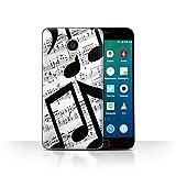 Stuff4 Phone Case for Meizu MX4 Pro Black Fashion Music