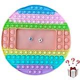 Smile Addict Pop it - Lote de 2 dados y 1 llavero, tamaño 26 x 26 cm, juguetes sensoriales de silicona concentración