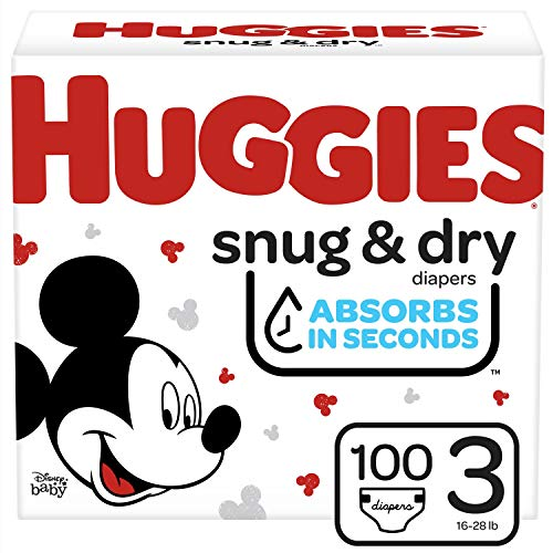Huggies Snug & Dry Diapers, Size 3, 100 Ct