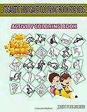 Gigantic Dinosaur Coloring Book For Kids: 45 Activity Eggs, Euoplocephalus, Corythosaurus, Cryolophosaurus, Corythosaurus, Velociraptor, Fossil, ... Image Quizzes Words Activity Coloring Book
