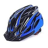 Adult Bike Helmet,Eco-Friendly Super Light Integrally Bike Helmet Adjustable Lightweight Mountain Road Bike Helmets for Men and Women (Blue-Black)