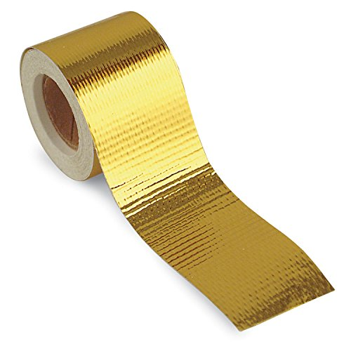 Design Engineering 010397 Reflect-A-GOLD High-Temperature Heat Reflective Adhesive Backed Roll, 2