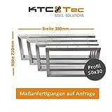 KTC Tec Waschbecken Konsole Edelstahl Träger TRG50x30-210/380 Waschtisch Wandkonsole Regalhalter Konsolenhalterung Gestell (1 Paar)