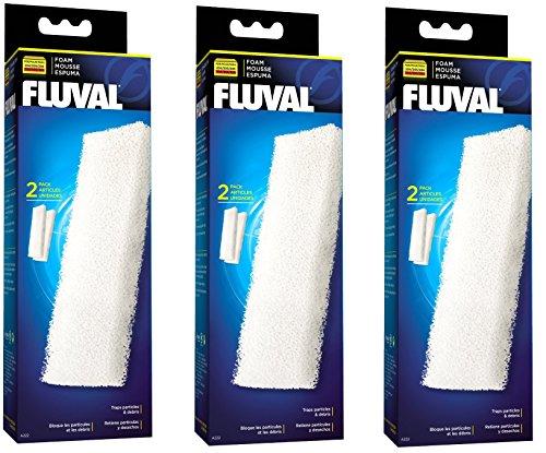 Fluval A222 Espuma Accesorios filtros para 204/205/206 304/305/306 (3 Pack)
