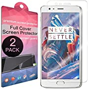 OnePlus 3 Screen Protector,SupThin [Full Coverage][Case Friendly][Bubble-Free][Anti-Scratch] HD Clear Screen Protector for OnePlus 3 / OnePlus 3T[2-Pack]