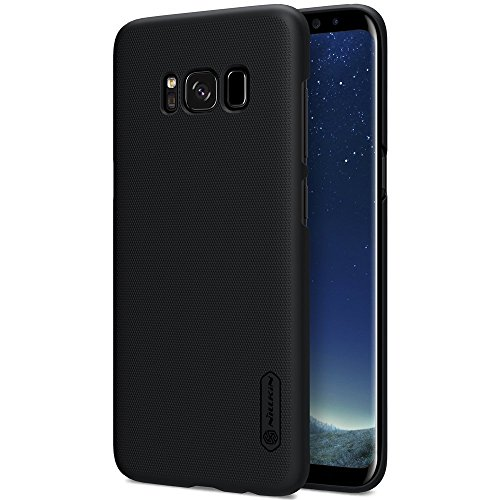 Nillkin Super Frosted Shield Slim Fit Polycarbonate Back Case for Samsung Galaxy S8 Plus with Screen Protector(Black)