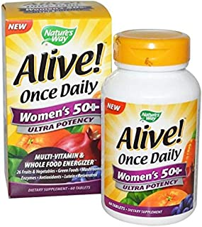 Nature's Way, Alive Once Daily, Women's 50 Multi-vitamin, 60 Tablets