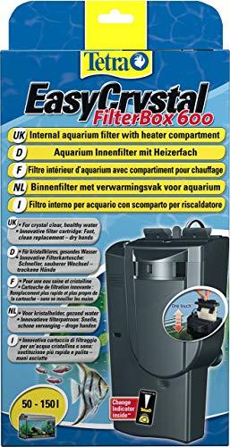 Tetra EasyCrystal Aquarium Filterbox 600 - Filter für kristallklares gesundes Wasser, einfache Pflege, intensive mechanische, biologische und chemische Filterung