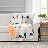 Lush Decor Rowley Birds Throw Blanket, 60' x 50', Multi