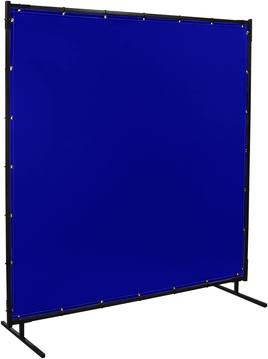 Steiner 529-4X6 Protect-O-Screen Classic Welding Screen with 13-Ounce Vinyl Laminated Polyester Curtain 4 x 6 Yellow