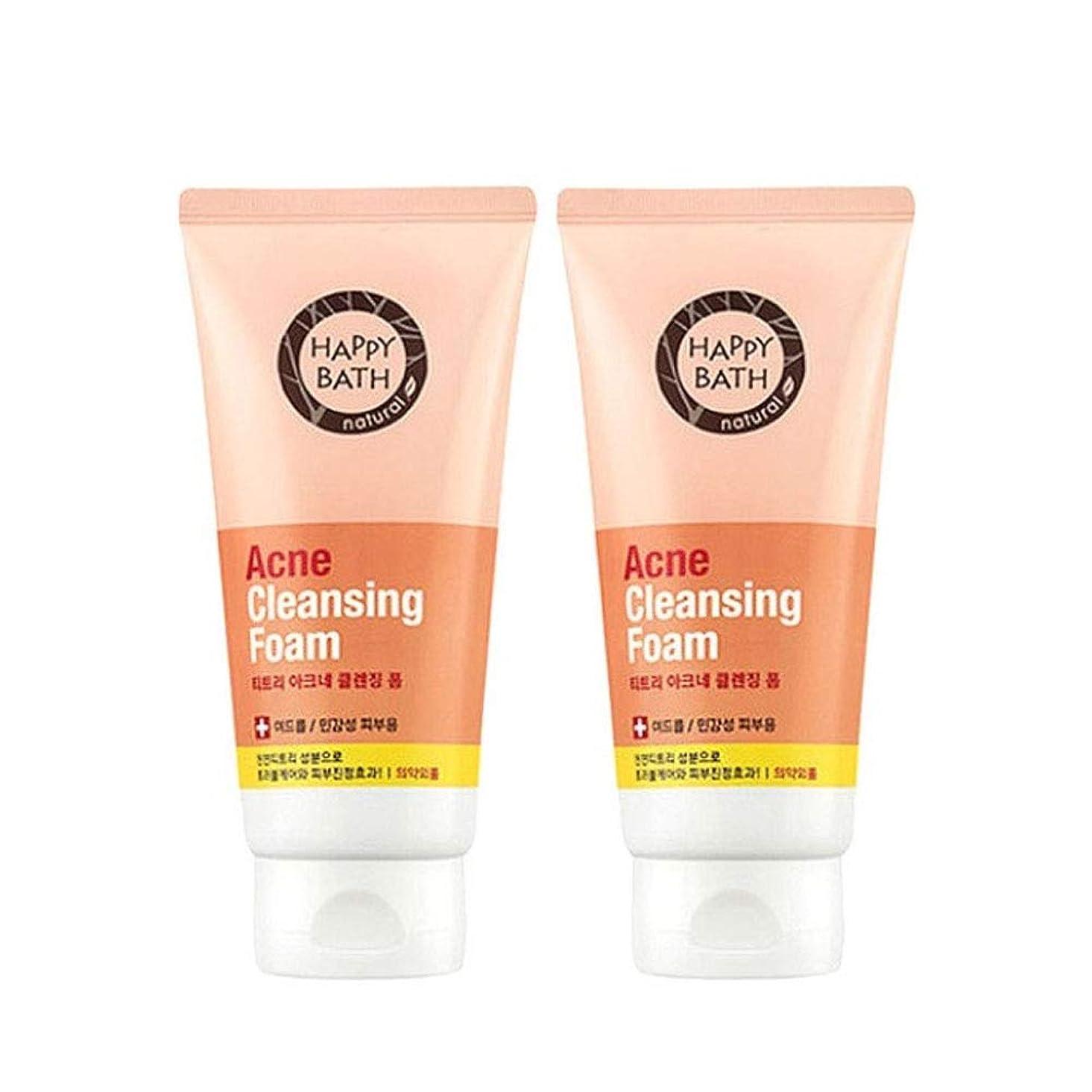 のホスト安息苦しみハッピーバスティーツリーアクネクレンジングフォーム175gx2本セット韓国コスメ、Happy Bath Acne Cleansing Foam 175g x 2ea Set Korean Cosmetics [並行輸入品]