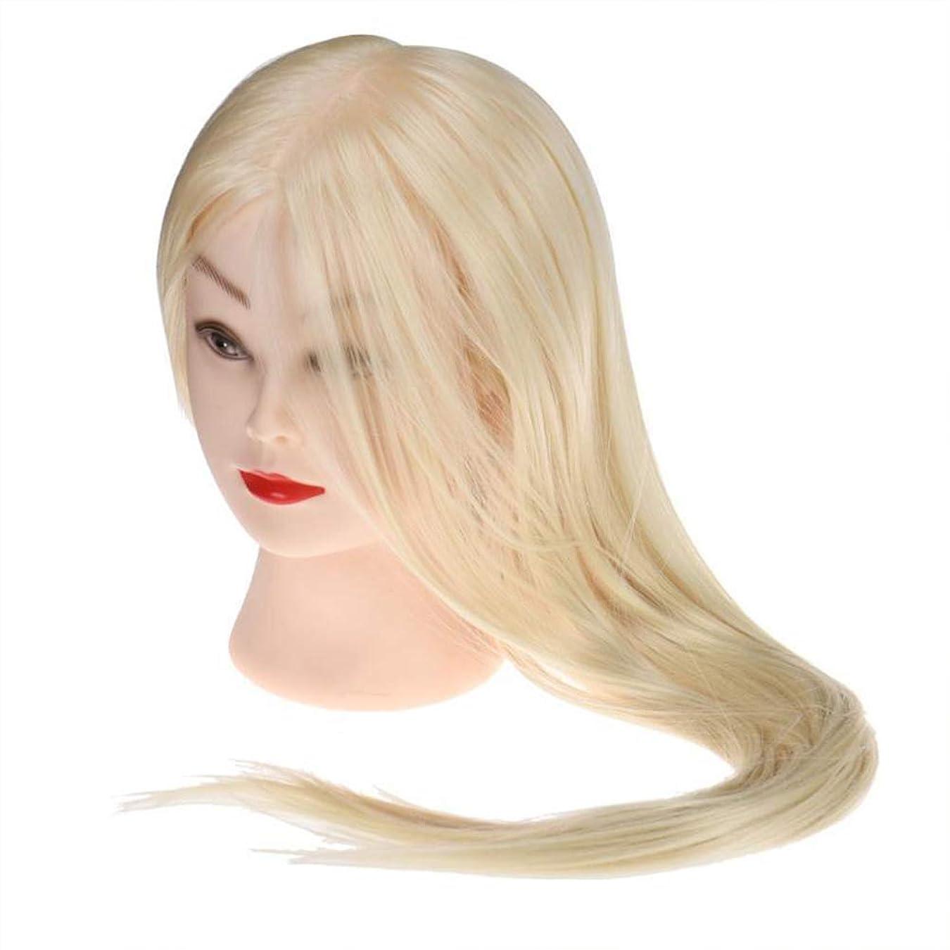 与えるダウン砲兵サロン散髪練習ヘッドモデルメイク学校編組髪開発学習モデルヘッドヘアストレートロングかつら