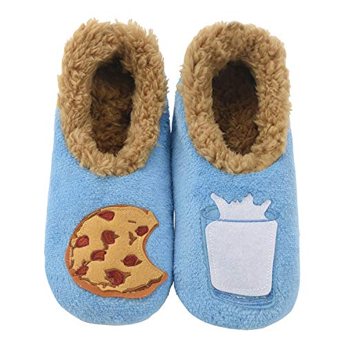 Snoozies Pairables Womens Slippers - House Slippers - Milk & Cookies - Large