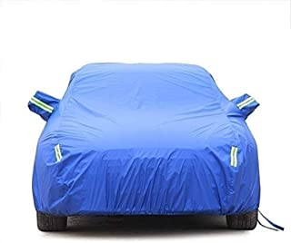 Asdfnfa Car Cover Waterproof Breathable Thick Sun Protection Rain Tarpaulin Canvas,Silver-Oxford Cloth - Built-in Lint (Co...