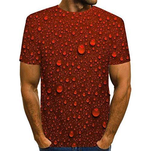 3D Impreso Camisetas,Novedad Funky Gota De Agua Roja Impresa Unisex De Secado Rápido Camiseta Transpirable Casual Cómoda Cuello Redondo Blusa De Manga Corta Para Hombres Mujeres Fiesta De Cumpleañ