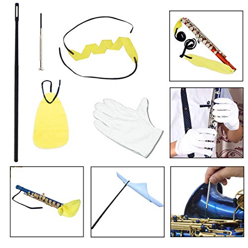 Justdolife 5PCS Sax Onderhoud Kit Professionele Saxofoon Care Kit Instrument Care Tools