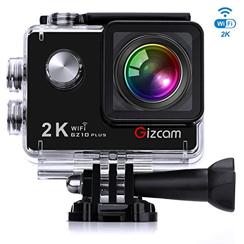 Action Camera Gizcam GZ10 Plus Sports Camera WiFi Waterproof DV Camcorder 2K 2.0 Inch 1080P FHD 12MP 173 Degree Wide Angle Lens with Accessories Kits