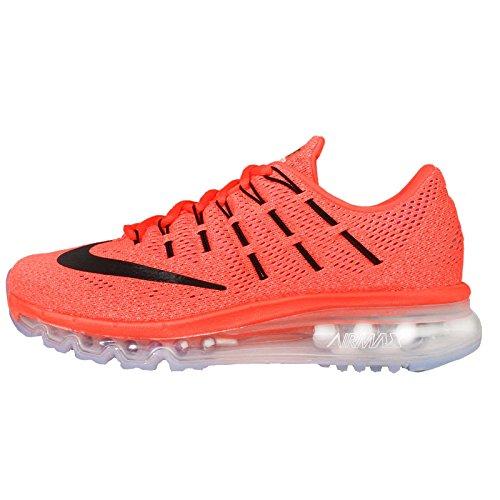 Nike Air Max 2016 Wmns 806772-800, Scarpe da Corsa Donna, Arancione (Hyper Orange/Black-Sunset Glow), 38 EU