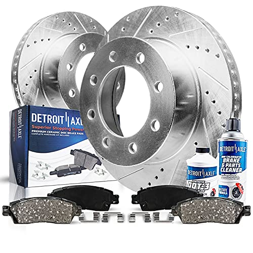 Detroit Axle - Front Drilled & Slotted Disc Rotors...