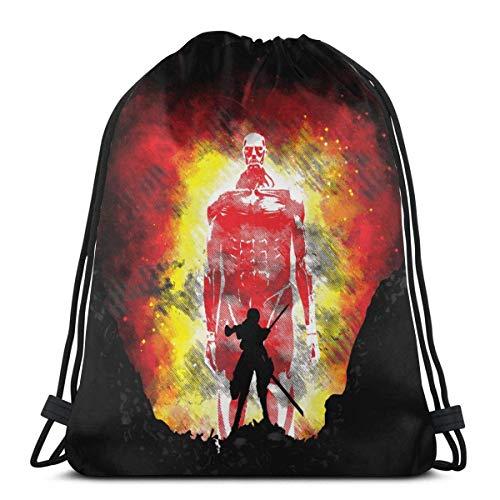 Drstring Bolsa Sport Gym Sa Party Favor Bolsas de regalo de embalaje bolsa de almacenamiento Drstring Bapa Goodie Bolsas Cinch Bag - Atta (-On-) Titan Human Presy
