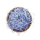 Shiwaki 100 g brandelli di Carta Rafia Multicolore e Fili coriandoli pieghettati sminuzzati per Confezioni Regalo Fai da Te e riempimento Cesto - Viola Chiaro