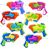 8 Pack Aqua Phaser Assorted Water Pistols Water Guns in 8 Colors, Water Blaster, Water Soaker Squirt Guns for Kids Summer Swimming Pool Beach Sand Outdoor Water Activity Fighting Play Toy