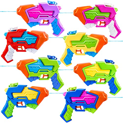 8 Pack Aqua Phaser Assorted Water Pistols Water Guns in 8 Colors, Water Blaster, Water Soaker Squirt...