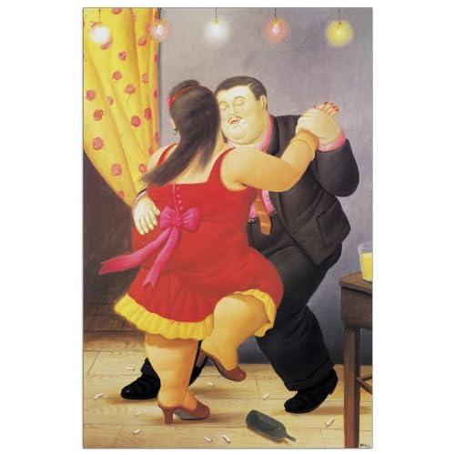 Artopweb Pannelli Decorativi Botero Dancers Quadro, Legno, Carta, Vernice, Multicolore, 46x1.8x70 cm
