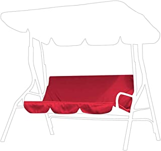 Yuehao Cubierta de la Silla del oscilación, Funda de cojín Giratorio Impermeable 3 Asientos, Reemplazo de la Cubierta del Asiento del Columpio para Exteriores Cubierta de protección de Hamaca(Rojo)