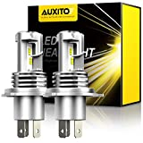 AUXITO H4 9003 LED Headlight Bulbs 12,000LM Per Set 6500K Xenon White for High and Low Beam Hi/Lo Plug and Play, Pack of 2