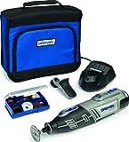 Dremel 8200KN Platinum Kit Multiutensile a Batteria, 5 Complementi, 65 Accessori, 10.8 V, Grigio