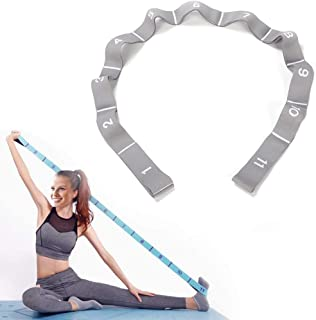 Romica Yoga Pull Strap Exercise Resistance Bands Multifunction Elastic Stretching Band With Loop For Home Gym Fitness (Blu...
