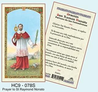Oracion San Ramon Nonato Laminated Prayer Cards - Pack of 25 - HC9-078S
