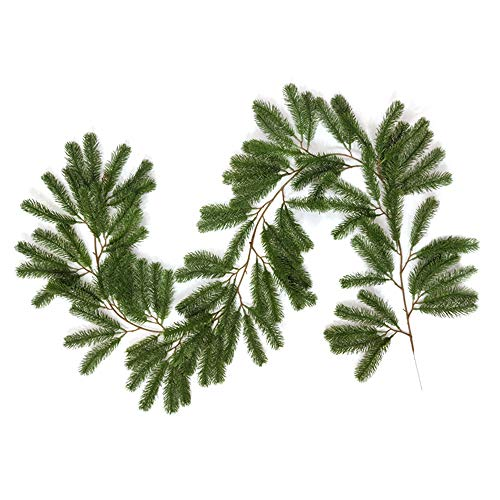 Dasing Artificial Pine Tree Leaf Vine, Wedding Backdrop Arch Wall Decor, Fake Hanging Plant Ivy for Table Xmas Party Decor