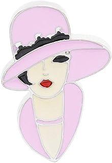 Pulabo moda mujer moderna cabeza esmalte insignia collar broche pin ropa decoración rentable y buena calidadSeguridad